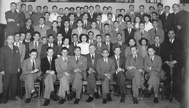 Kantoor staff 1952