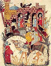 Muhammad at the besiege of Bano-Nadir